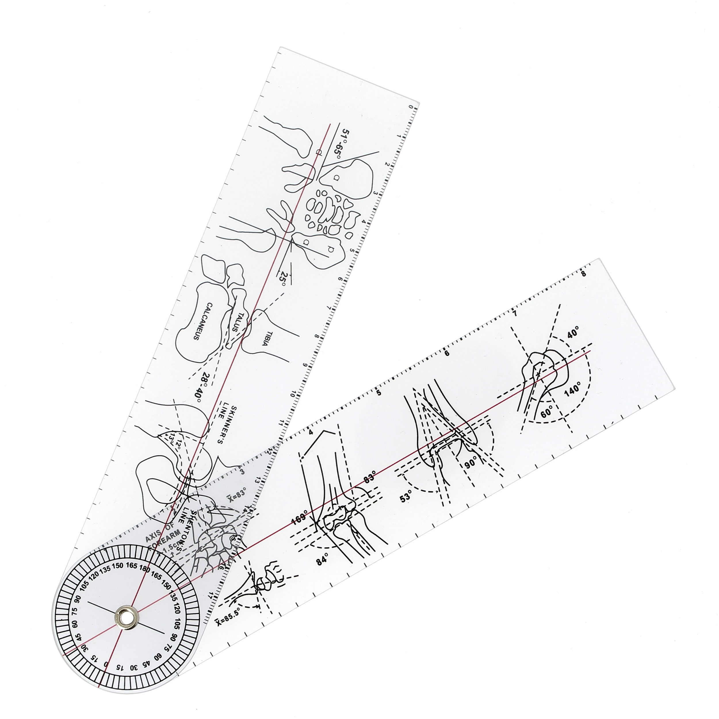 Image of   Goniometer med illustrationer