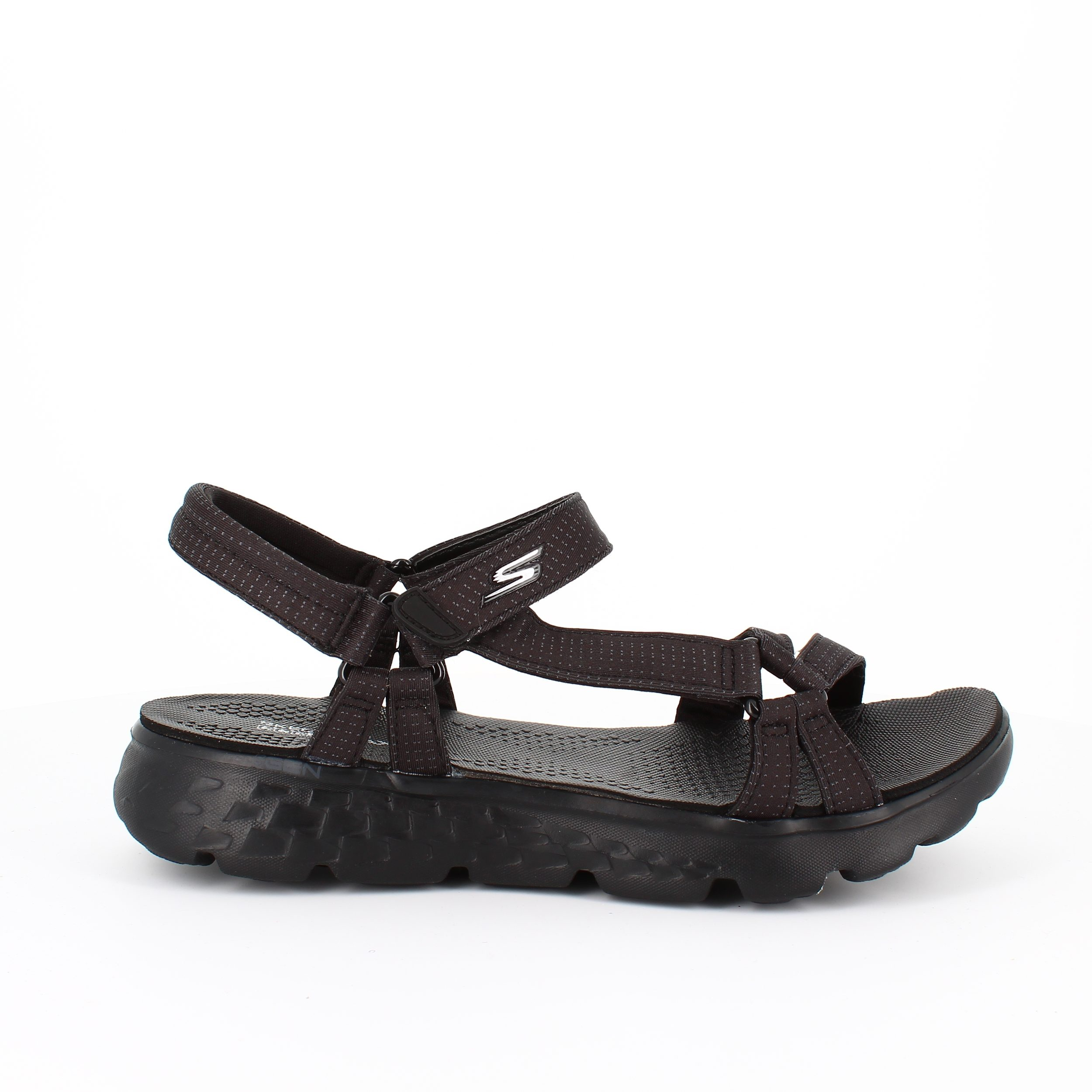 Image of   Skechers sandal sort med smalle remme - 35
