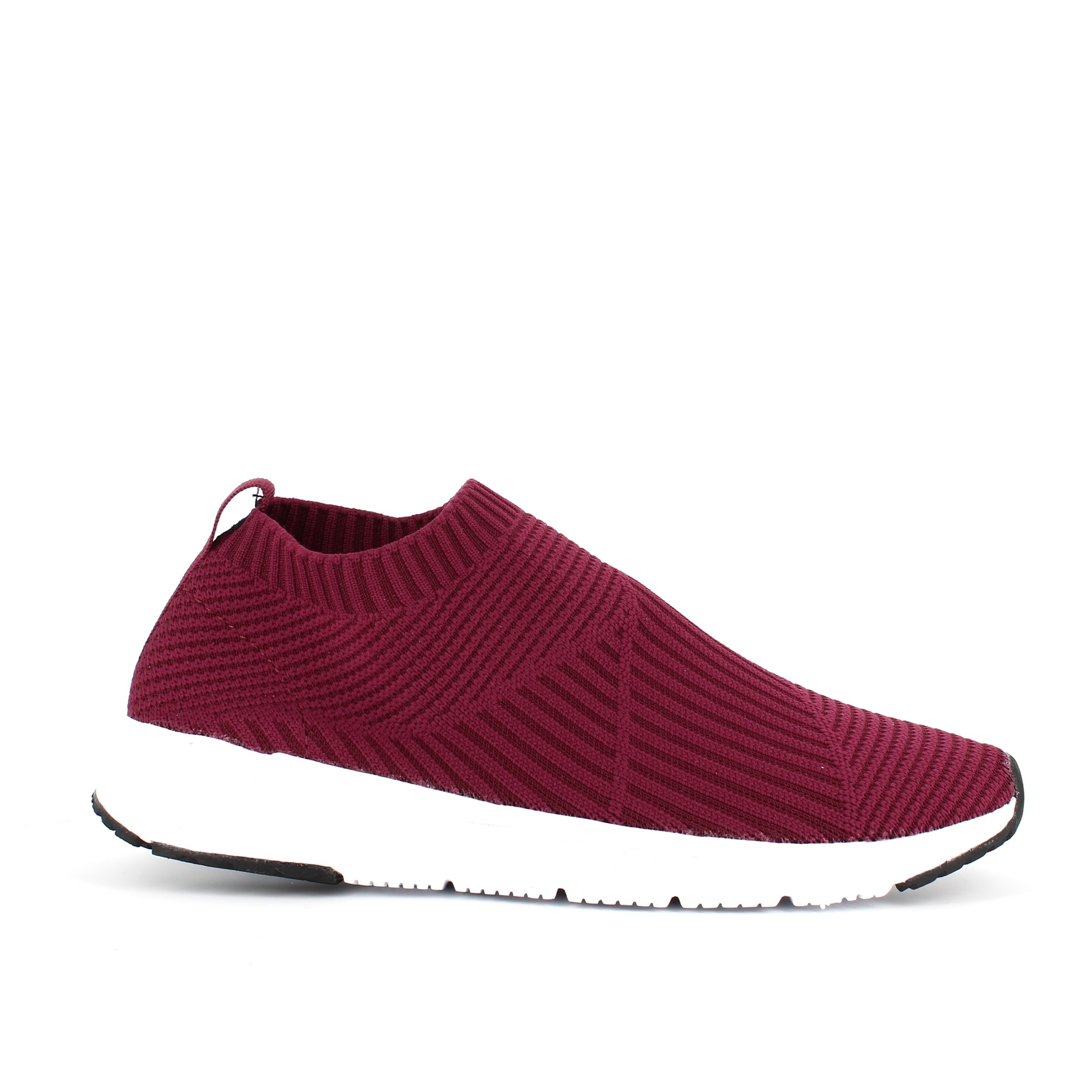 Image of   Bordeaux strikket slip in sneakers - god til smalle fødder - 38