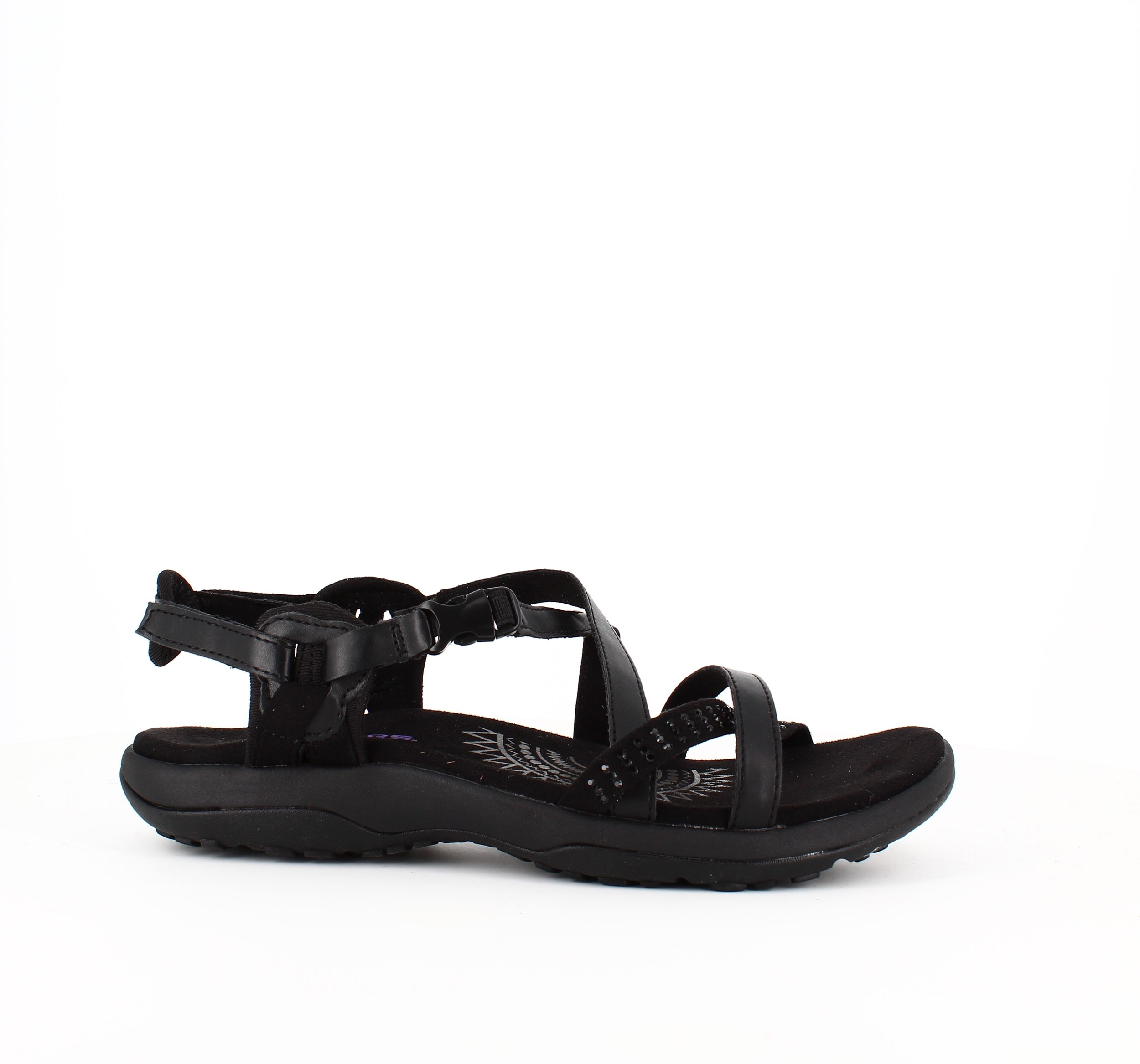Image of   Skechers sandal i sort med smalle remme - 37