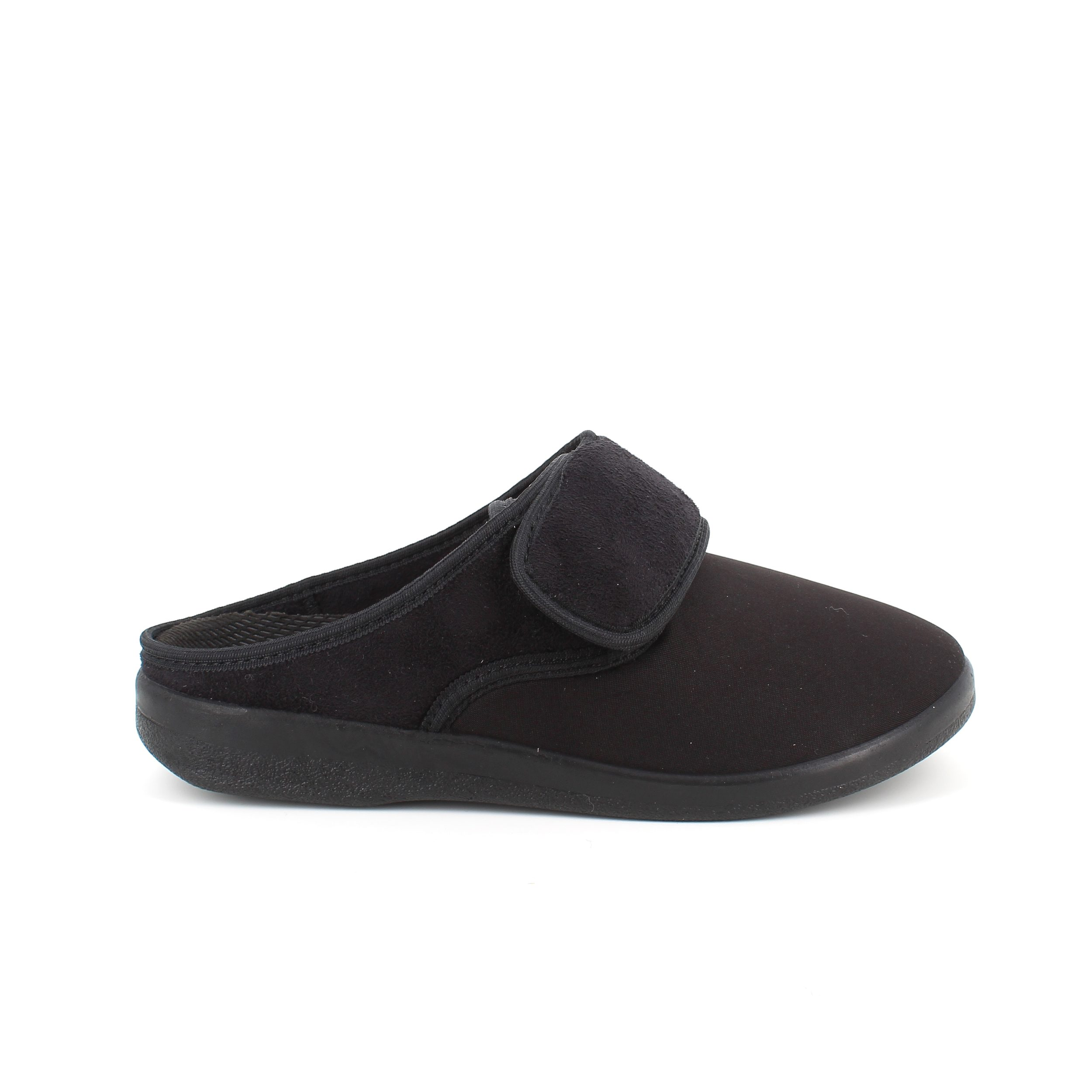 Image of   Bred sko fra OrtoMed slip in model med velcro omkring vristen - 42