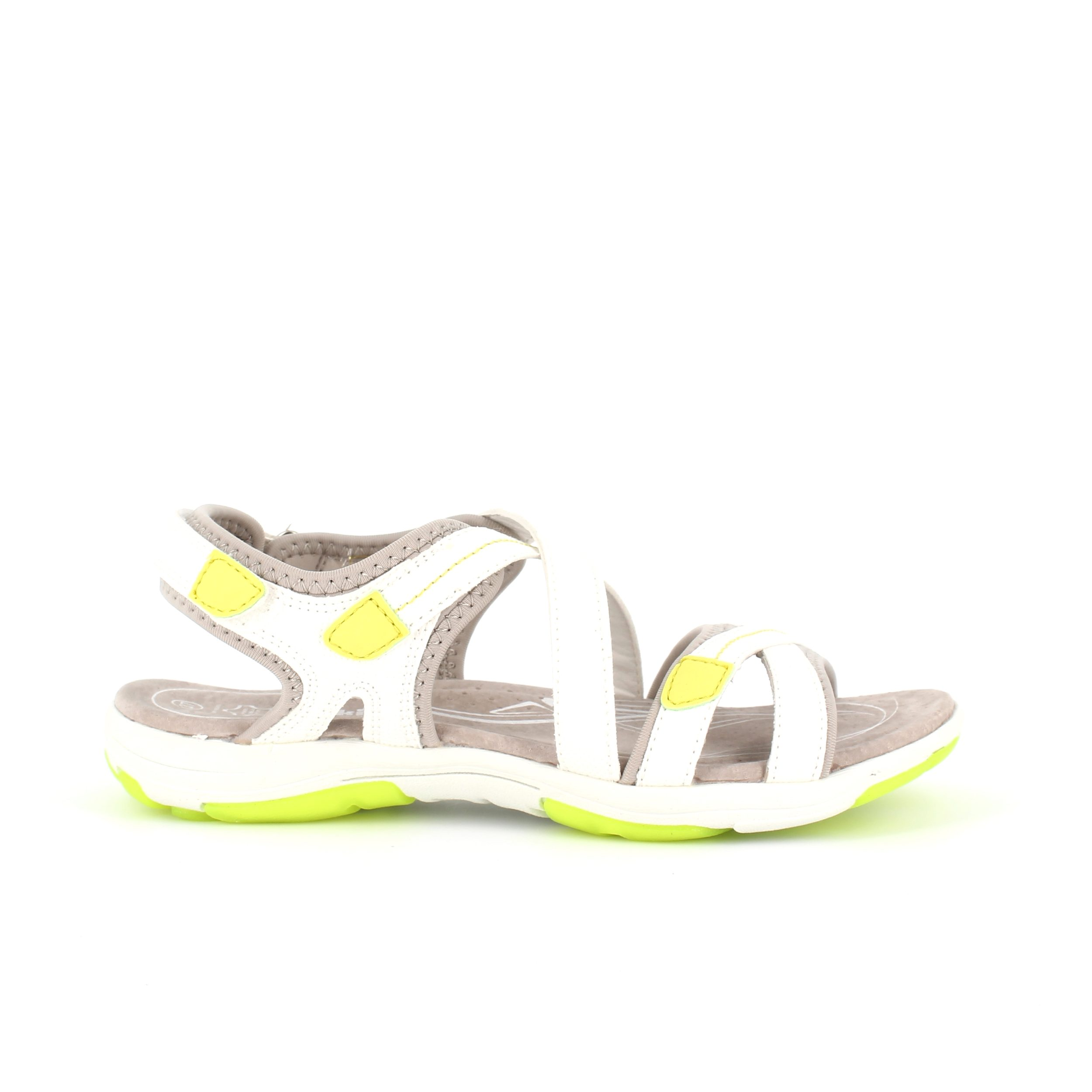 Image of   Smart sandal i frisk hvid og lime - 39